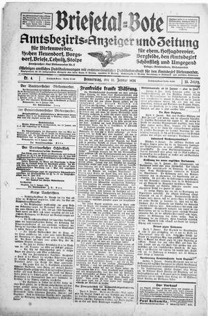 Briesetal-Bote vom 10.01.1924