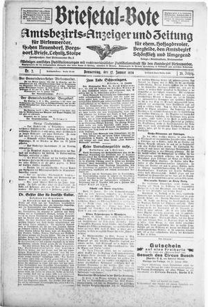 Briesetal-Bote vom 17.01.1924