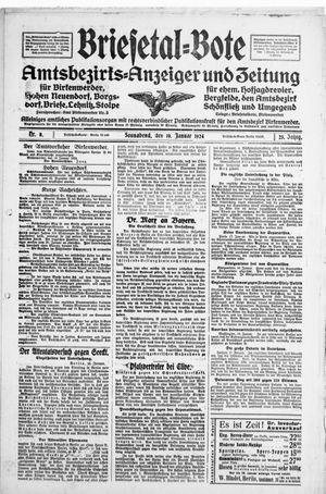 Briesetal-Bote vom 19.01.1924