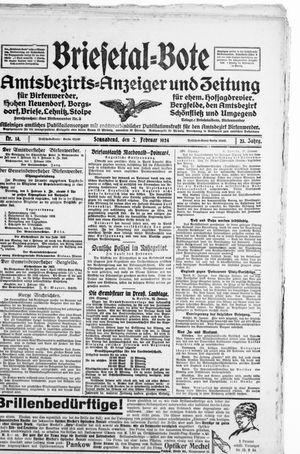 Briesetal-Bote vom 02.02.1924