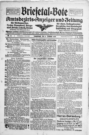 Briesetal-Bote vom 09.02.1924