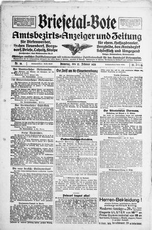 Briesetal-Bote vom 12.02.1924