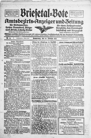 Briesetal-Bote vom 14.02.1924