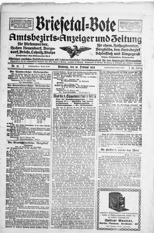 Briesetal-Bote vom 19.02.1924