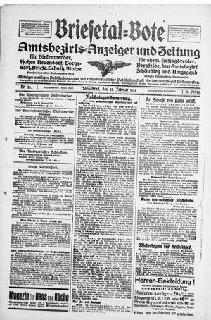 Briesetal-Bote vom 23.02.1924