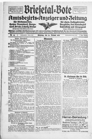 Briesetal-Bote vom 26.02.1924