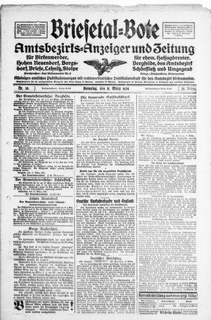 Briesetal-Bote vom 11.03.1924