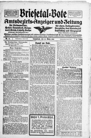 Briesetal-Bote vom 15.03.1924