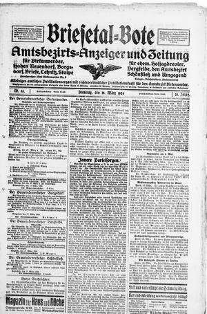 Briesetal-Bote vom 18.03.1924