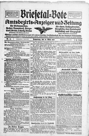 Briesetal-Bote vom 20.03.1924