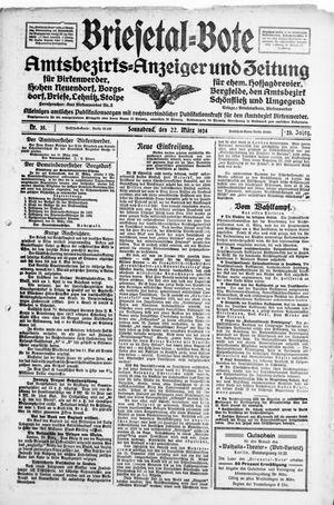Briesetal-Bote on Mar 22, 1924