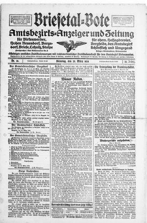 Briesetal-Bote vom 25.03.1924