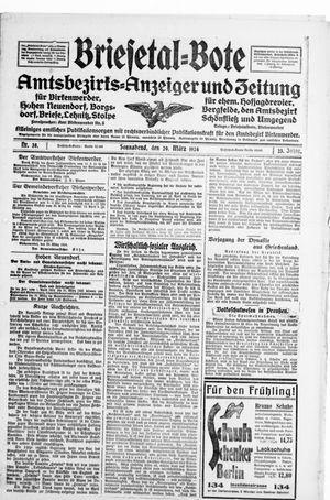 Briesetal-Bote vom 29.03.1924