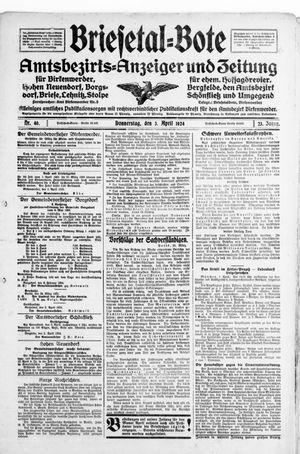 Briesetal-Bote vom 03.04.1924