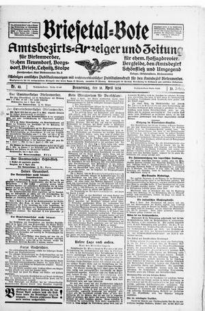 Briesetal-Bote vom 10.04.1924