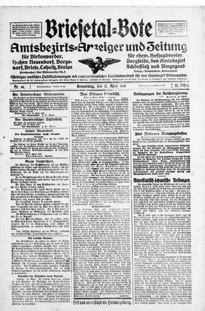 Briesetal-Bote vom 17.04.1924