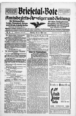 Briesetal-Bote vom 20.04.1924