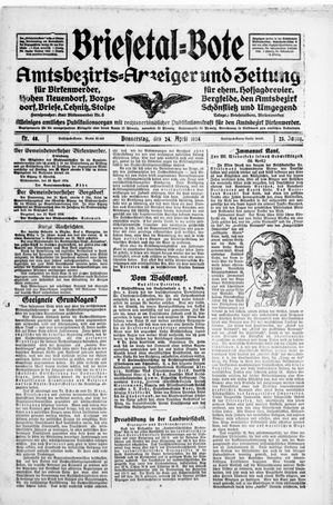 Briesetal-Bote vom 24.04.1924