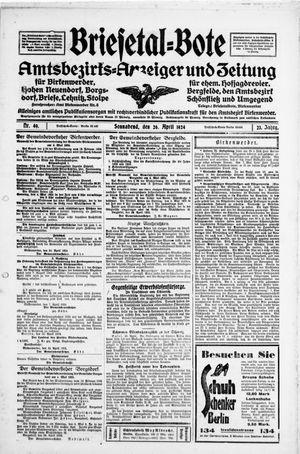 Briesetal-Bote vom 26.04.1924