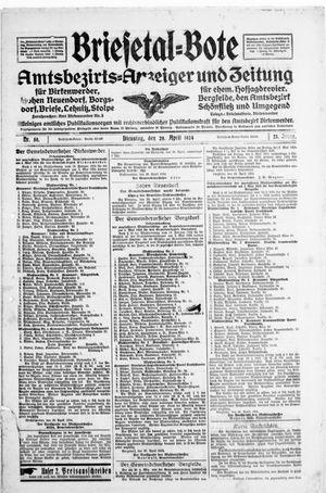 Briesetal-Bote vom 29.04.1924