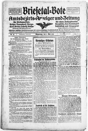 Briesetal-Bote vom 01.05.1924