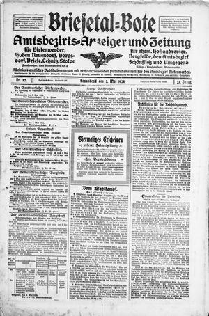 Briesetal-Bote on May 3, 1924