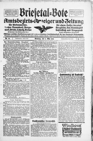 Briesetal-Bote vom 06.05.1924