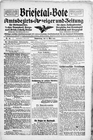Briesetal-Bote vom 08.05.1924