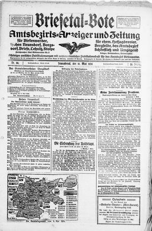 Briesetal-Bote vom 10.05.1924