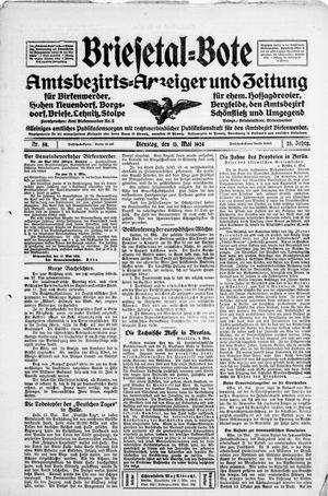 Briesetal-Bote vom 13.05.1924