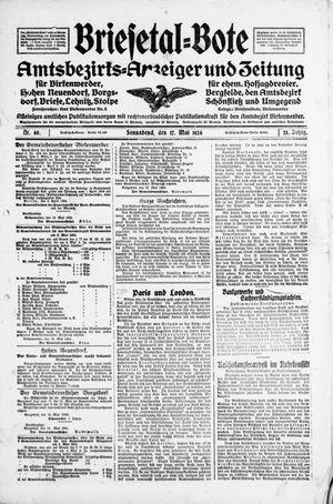 Briesetal-Bote vom 17.05.1924