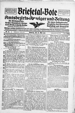 Briesetal-Bote vom 20.05.1924