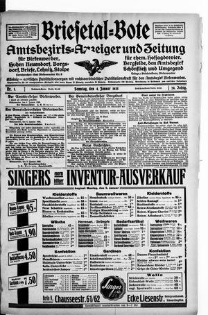 Briesetal-Bote vom 04.01.1925