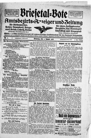 Briesetal-Bote vom 06.01.1925