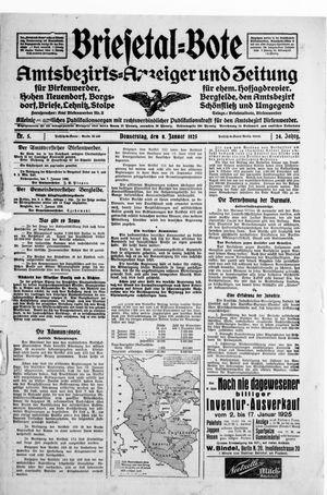 Briesetal-Bote vom 08.01.1925