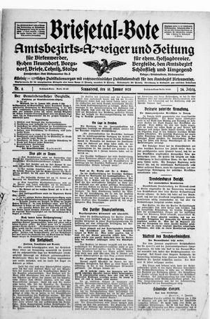 Briesetal-Bote vom 10.01.1925