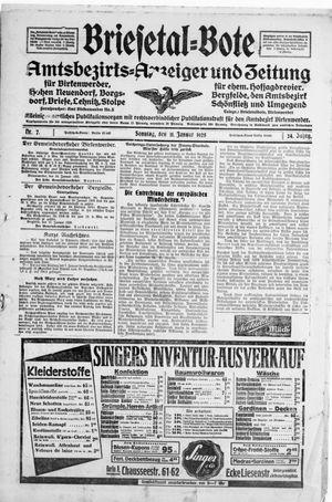 Briesetal-Bote vom 11.01.1925