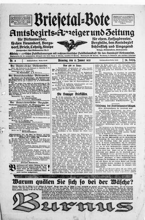 Briesetal-Bote vom 13.01.1925