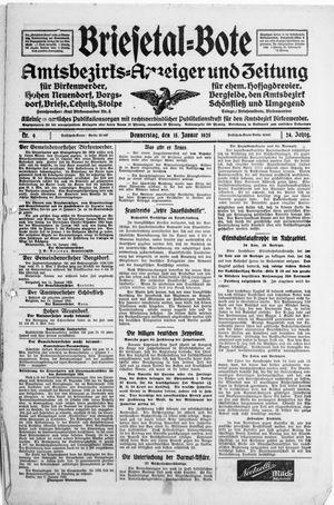 Briesetal-Bote vom 15.01.1925