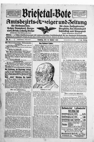 Briesetal-Bote vom 18.01.1925