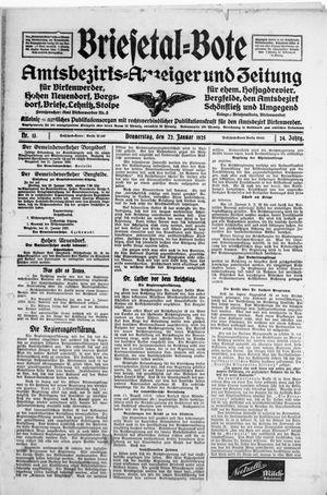 Briesetal-Bote vom 22.01.1925