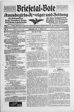 Briesetal-Bote vom 24.01.1925