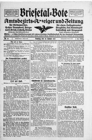 Briesetal-Bote vom 25.01.1925
