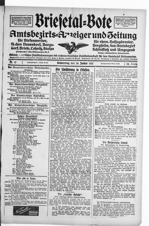 Briesetal-Bote vom 29.01.1925