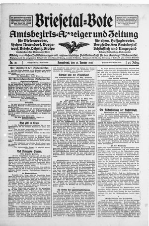 Briesetal-Bote vom 31.01.1925
