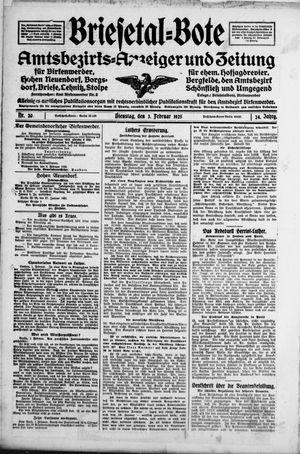 Briesetal-Bote vom 03.02.1925