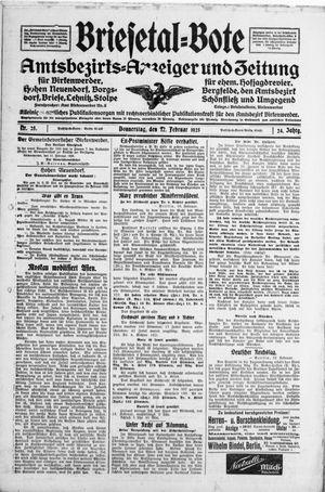 Briesetal-Bote vom 12.02.1925