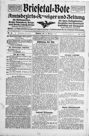 Briesetal-Bote vom 17.02.1925