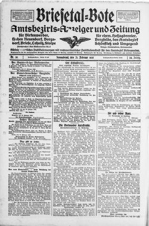 Briesetal-Bote vom 21.02.1925