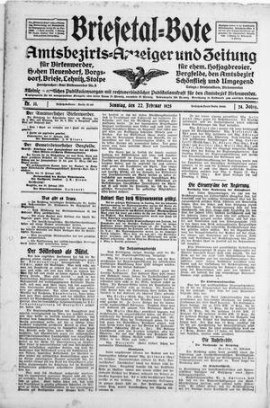 Briesetal-Bote vom 22.02.1925